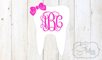 Tooth and Bow Monogram