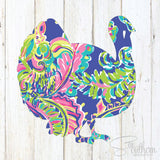 Lilly Turkey Decal