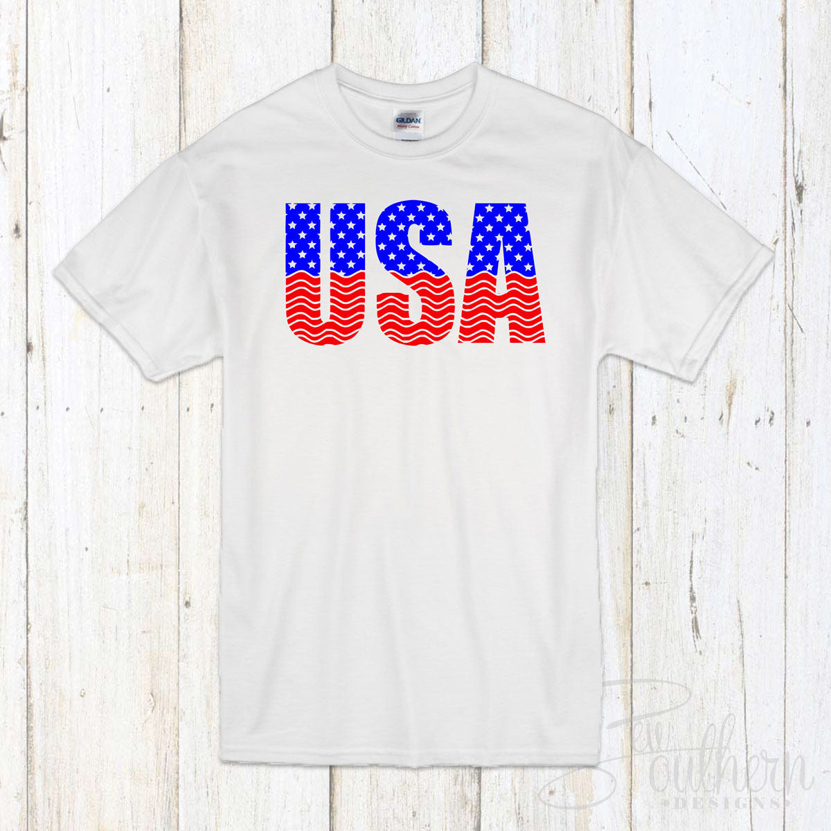 USA T-Shirt - White