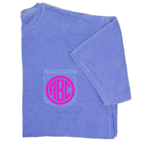 Monogram Comfort Colors Pocket T-Shirt - SHORT SLEEVE