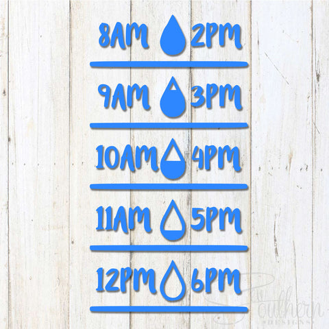 Water Tracker Decal for Water Bottle