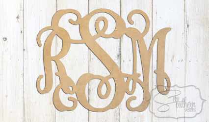 Wooden Wall Monogram (14inch)