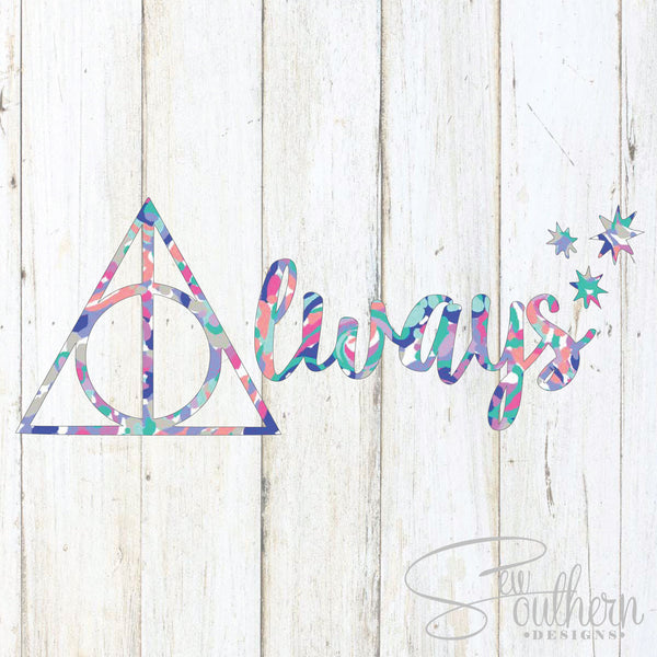 Harry Potter Deathly Hollows Decal With Lilly Pulitzer