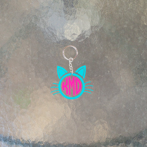 Monogram Cat Keychain