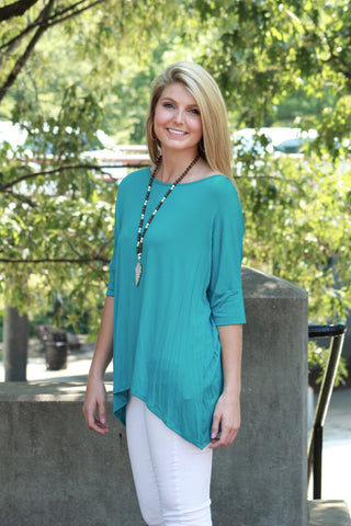 Chic Alert Top - Turquoise