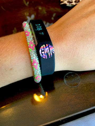 "Fitbit Set of Two .5"" Lilly Monograms"