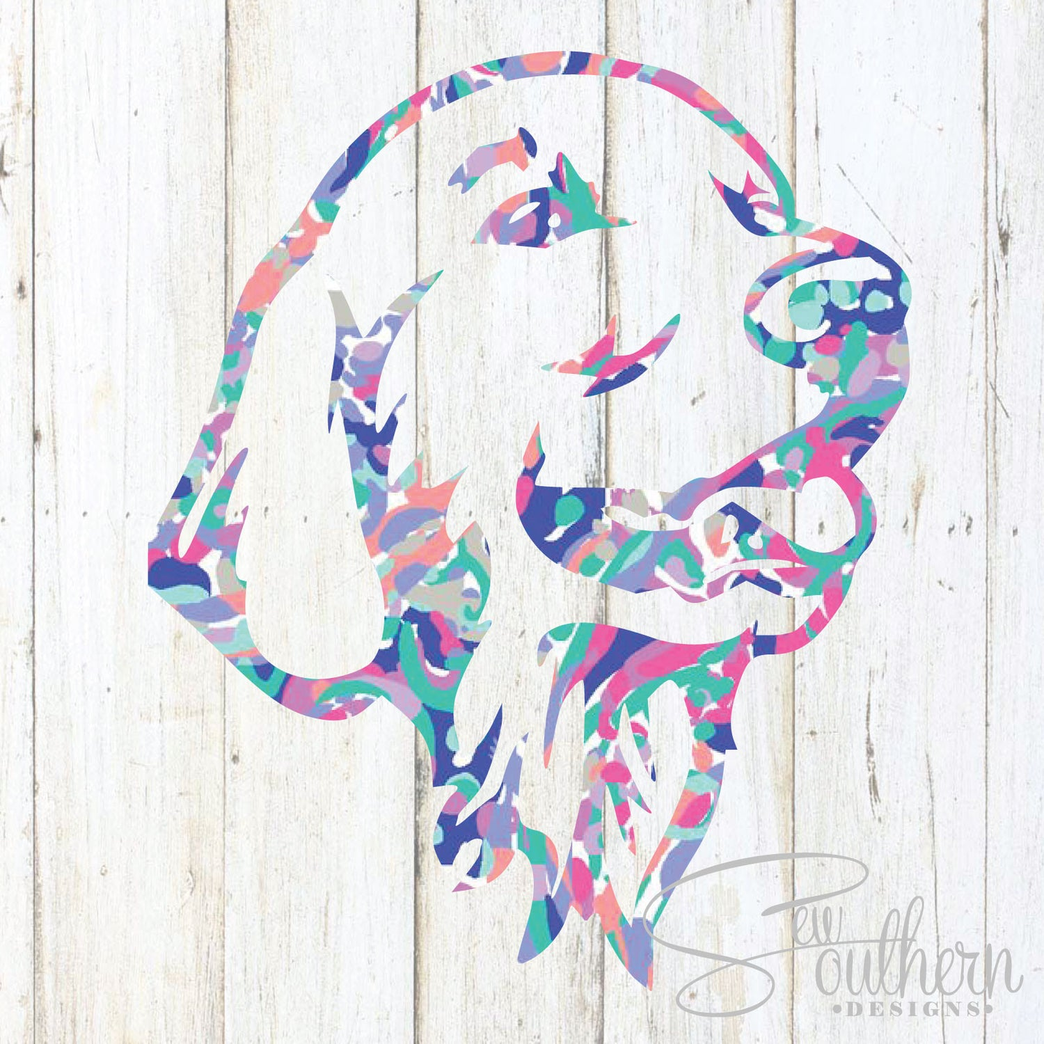 Lilly Golden Retriever Head Decal