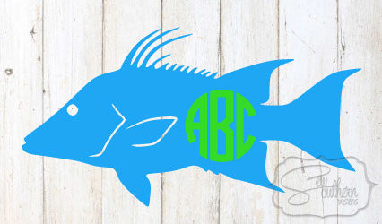 Hogfish Monogram