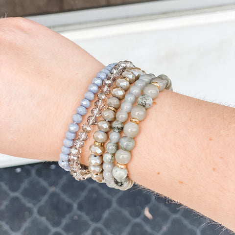 Kara Bracelet Set - Grey