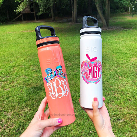 SIC Bottle - 27 oz with Sport Lid (Monogram Included)