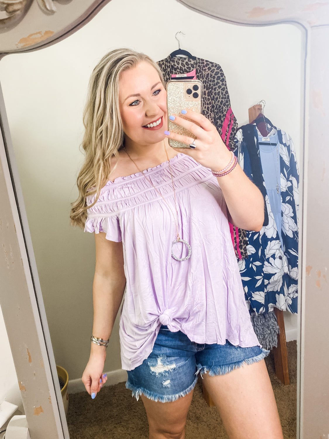 Sweetheart Lover Off Shoulder - Top - Lavender