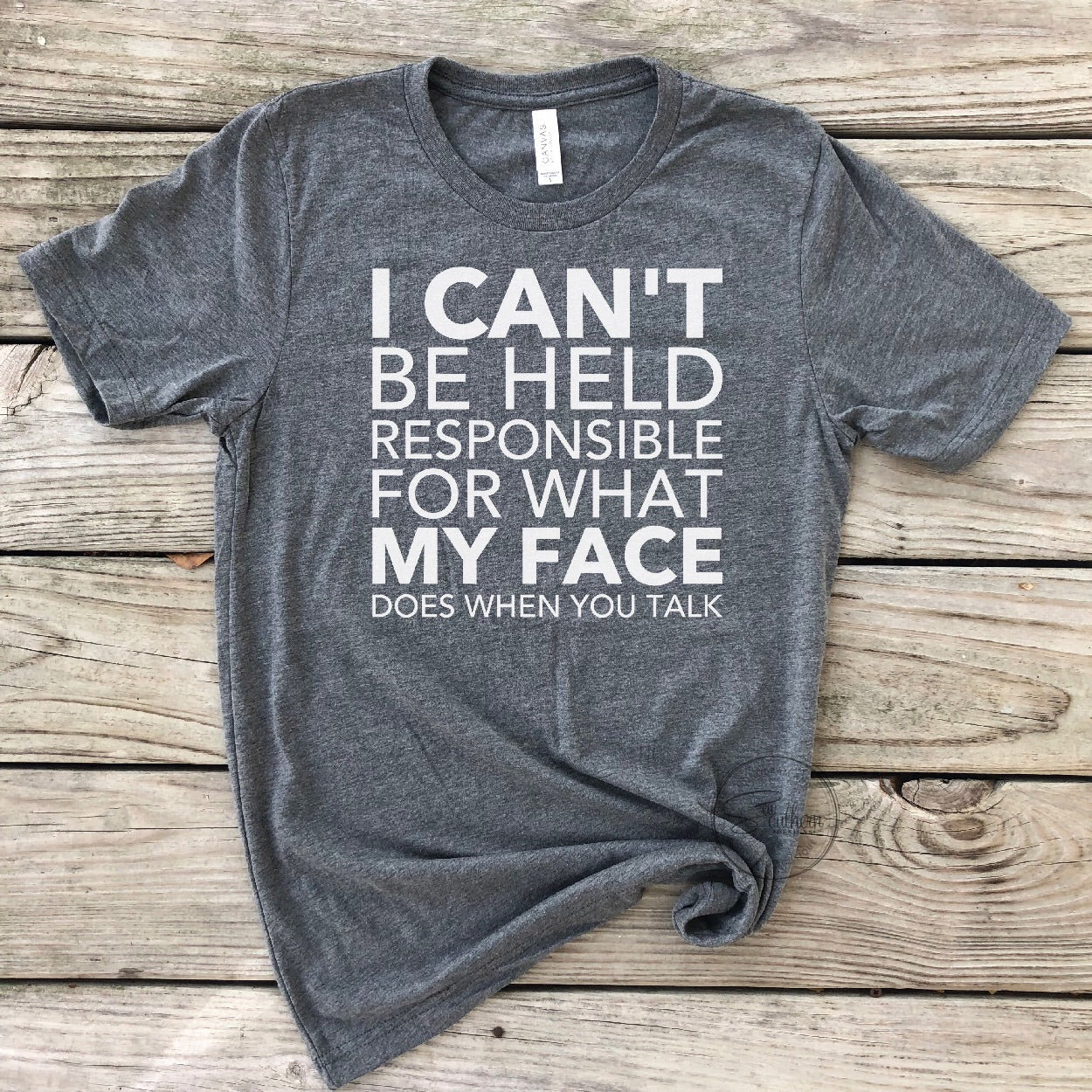 I Can't Be Held Responsible Shirt - Dark Grey