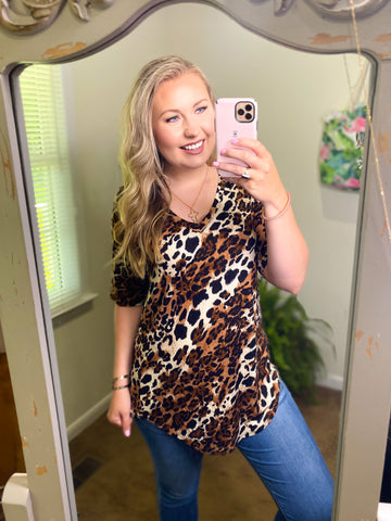 *DEAL* Live Your Wild Life Leopard - Top