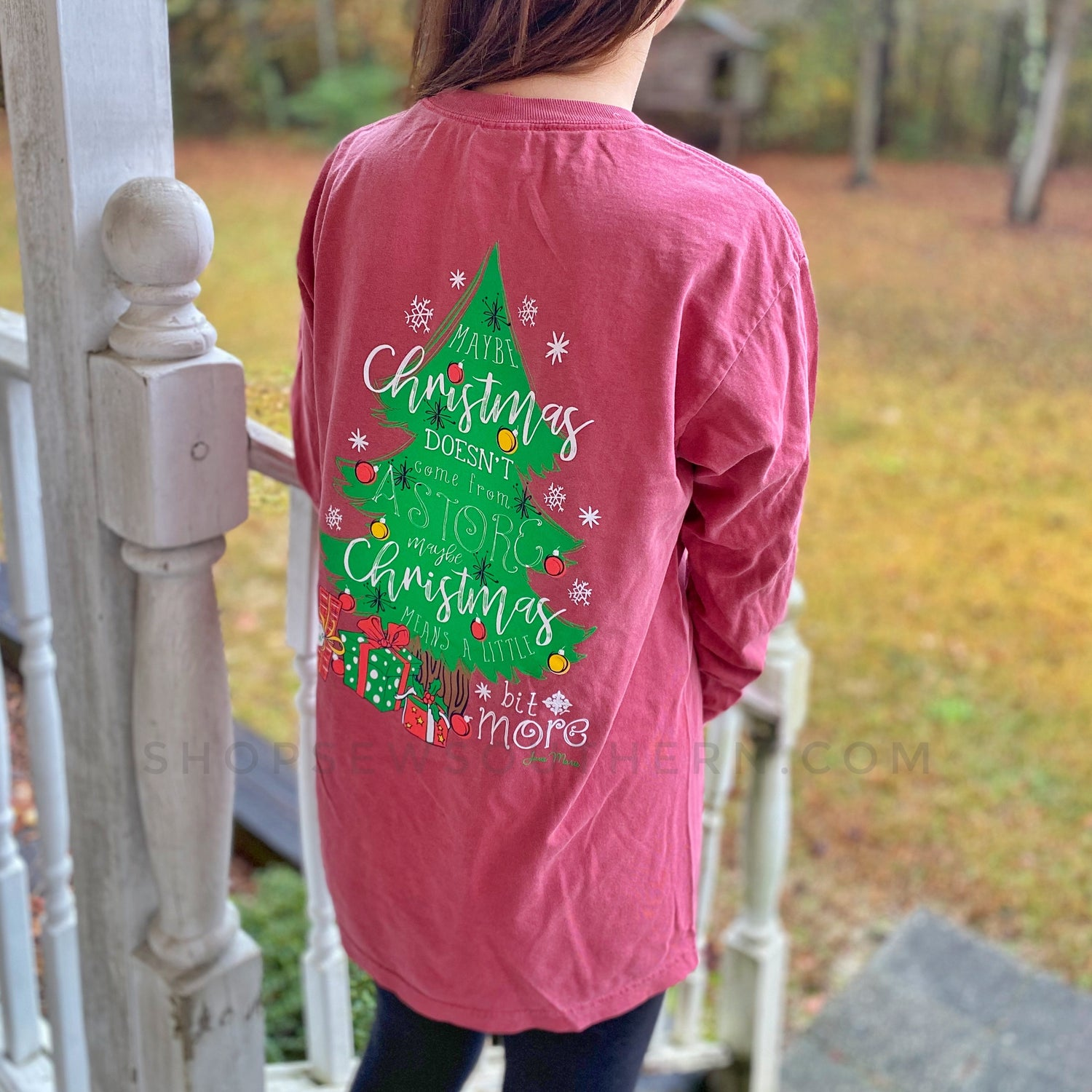 Maybe Christmas Doesn't Come from a Store - Crimson - Long Sleeve T-Shirt