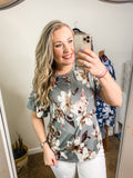 *SALE* Need To Know Floral - Top - Grey