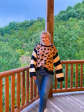 Discover Your Wild Leopard/Stripe Sweater - Top