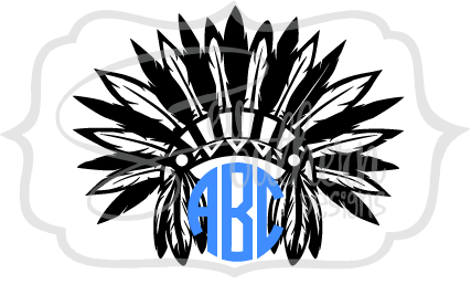 Indian Headdress Monogram