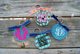 Monogram Keychain with Design