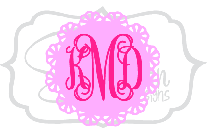 Lace Scallop Monogram
