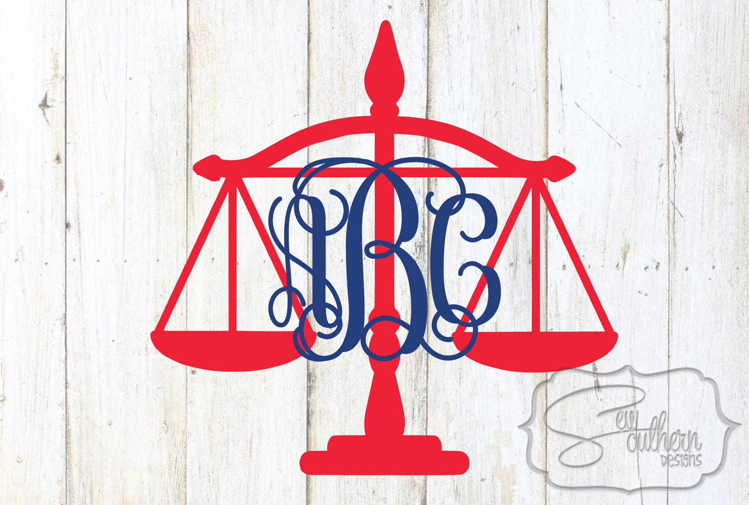 Legal Scales of Justice Monogram