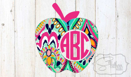 Lilly Apple Monogram Decal
