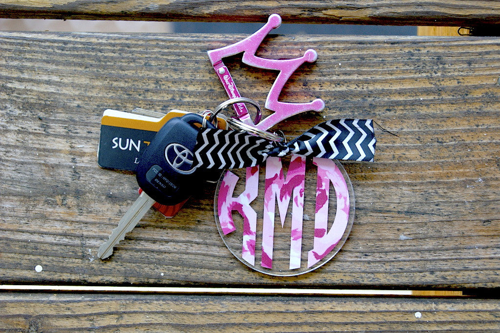 Lilly Monogram Keychain