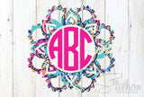 Lilly Flower Mandala Monogram Decal