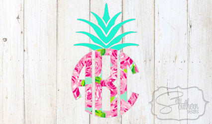 Lilly Pineapple Monogram Decal
