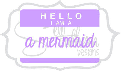 I Am A Mermaid Decal