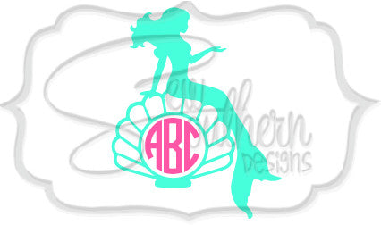 Mermaid and Shell Monogram