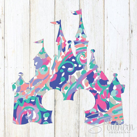 Lilly Mickey Head Disney Castle Decal