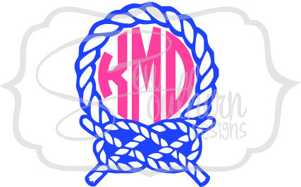 Nautical Rope Knot Monogram
