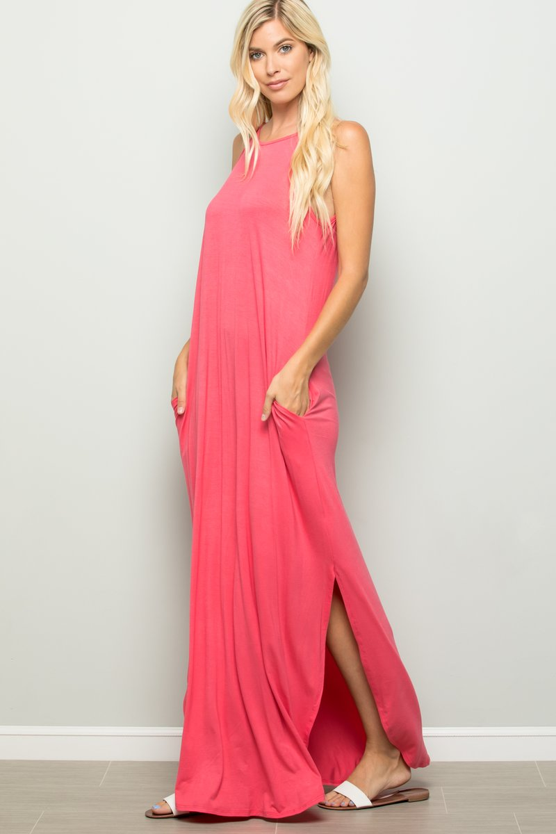 *SALE* Bold Decisions Maxi - Dress - Coral