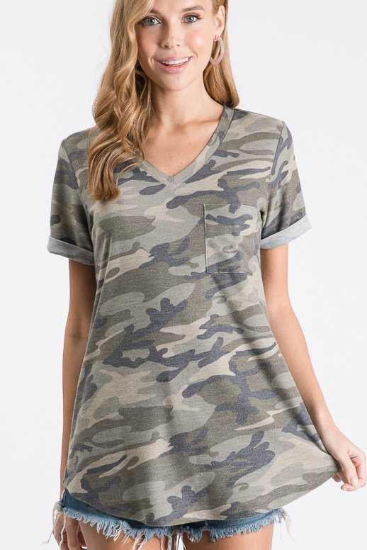 *SALE* Places To Go - Top - Camo