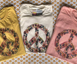Floral Peace Sign - Graphic T-Shirt