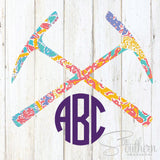 Lilly Pick Axe Monogram Decal