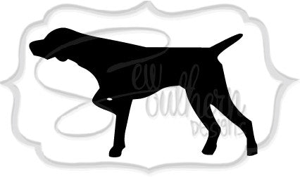 Pointer Dog Decal