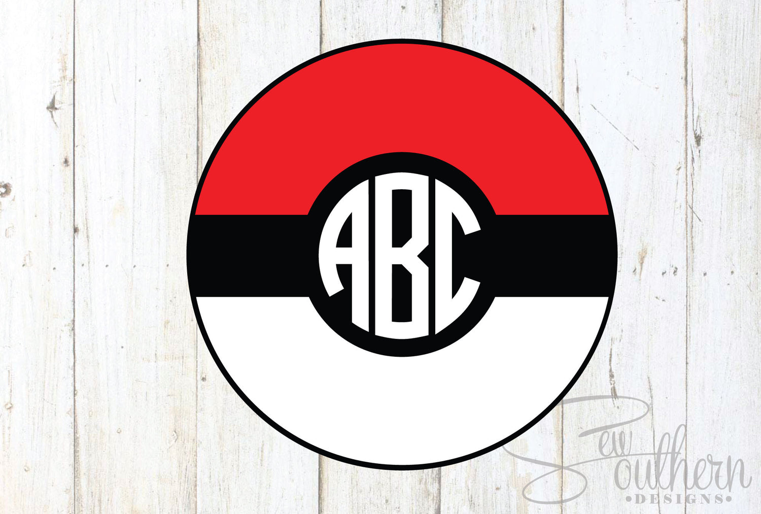 Pokemon Go Ball Monogram