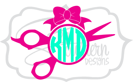 Shears and Bow Monogram