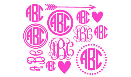 Large Sheet of Monograms