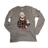 Sloth Winter - Grey - Graphic Long Sleeve