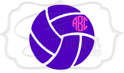 Volleyball Monogram