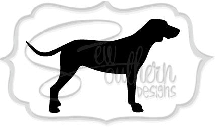 Walker Hound Dog Decal