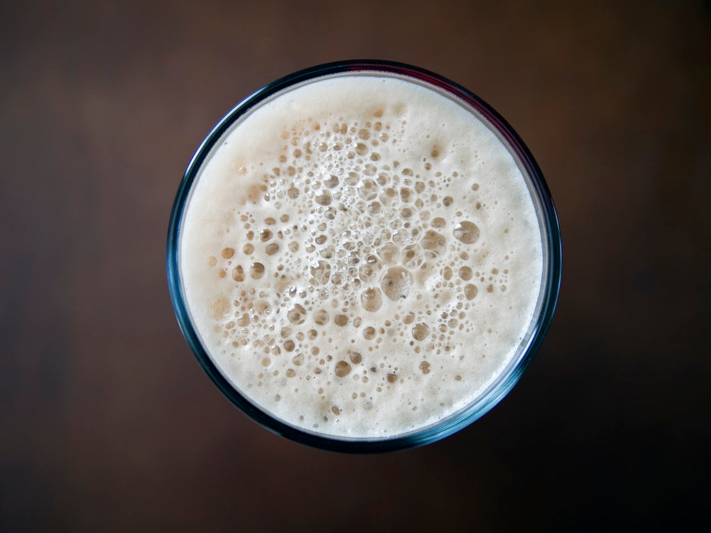 Oat milk in a glass