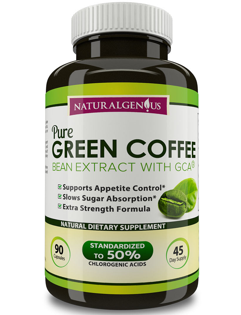 100 Pure Green Coffee Bean Extract With Gca True 45 Day Supply Bott Natural Genius