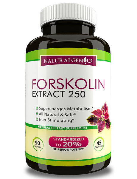 Forskolin Extract - Fast & Natural Fat Burner - Natural Genius  - 1