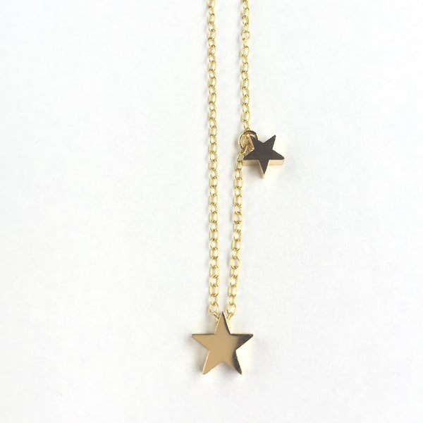 KGW Private Label | 14k gold plated silver necklace Stars - Kristina Goes West  - 3