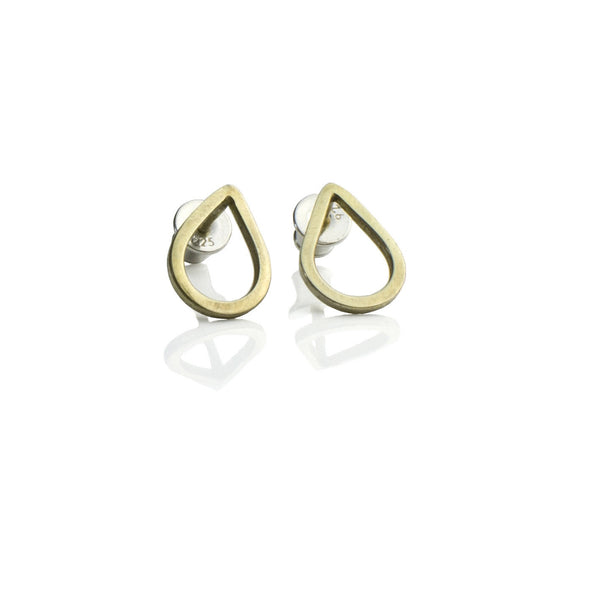 DD Workshop | 14-karat gold plated silver earrings Drops - Kristina Goes West