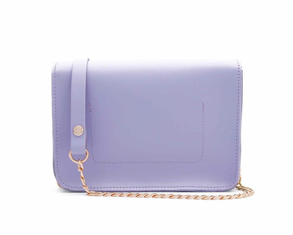 Mini lilac and mint chain clutch by Alexa Jay | KRISTINAGOESWEST.COM - 3
