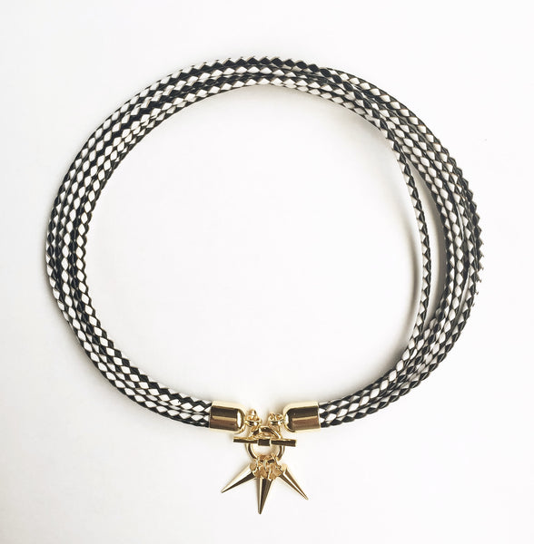 KGW Private Label | Two-in-one monochrome leather choker and double bracelet - Kristina Goes West  - 2